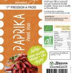 Huile vierge de graines de Paprika bio (piment doux)