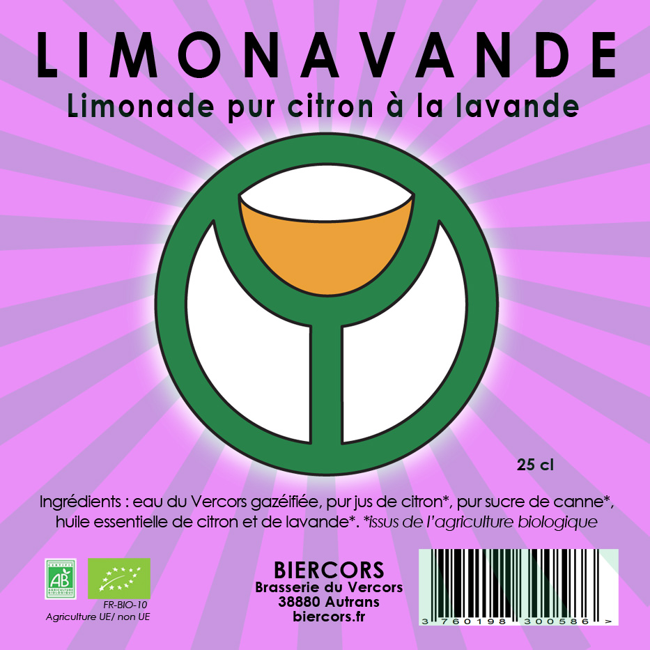 LIMONAVANDE : Limonade pur citron à la Lavande !