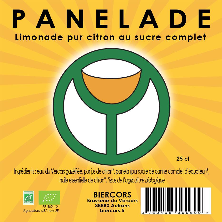 PANELADE : Limonade pur citron au sucre complet d'équateur