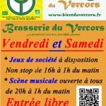 Brasserie du Vercors BIERCORS ouverture vendredi et samedi scène ouverte musicale