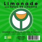 Limonade bio pur citron aux fleurs de chanvre du Vercors