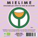 MIELIME : Limonade bio pur citron au miel de Lavande