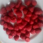 fraises bio entières lyophilisées
